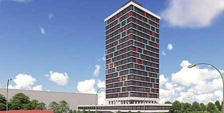 Transformatie 14.000 m² kantoor naar studentenhuisvesting gestart